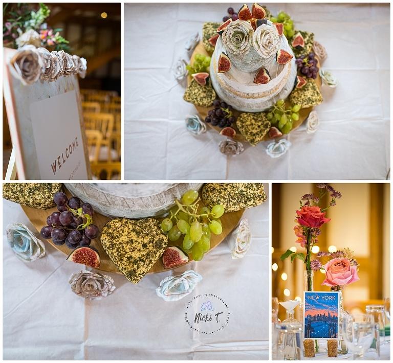 Barrandov Opera, cheese wedding cake, table displays