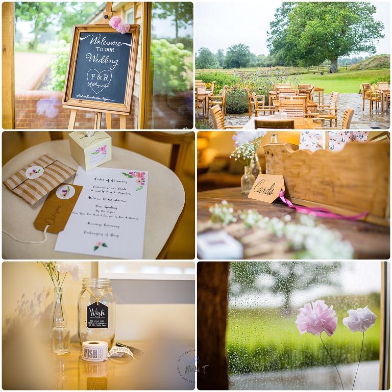 wedding details at Easton Grange